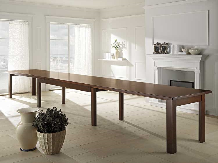 tavolo in legno l. 250 cm allungabile fino a 6 metri art. mad-8